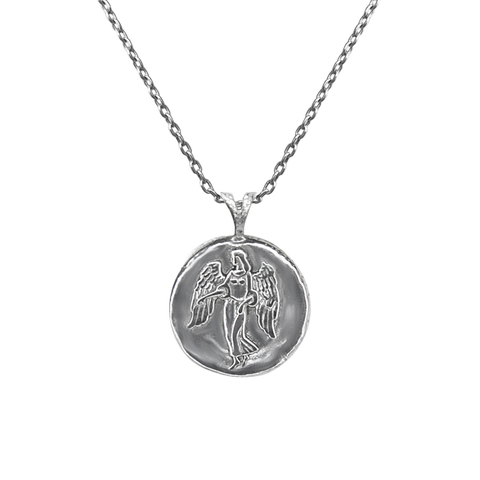 Pendant, Zodiac sign Virgo on a chain, sterling  silver