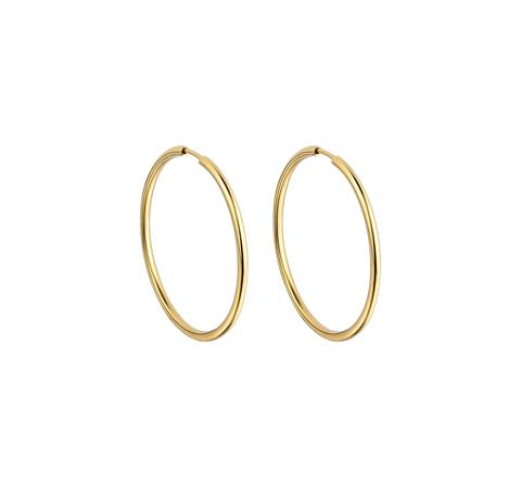 Позолоченные серьги-кольца 25 мм