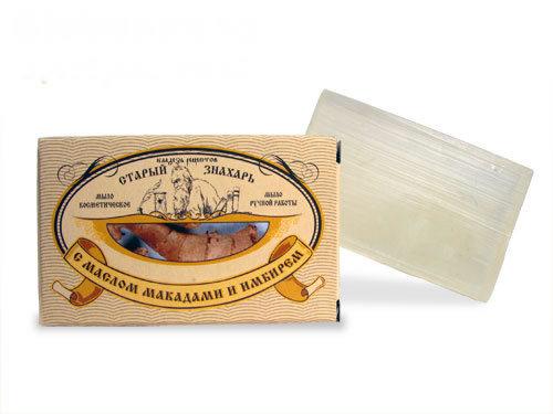 Мыло Старый знахарь с маслом макадамии и имбирем