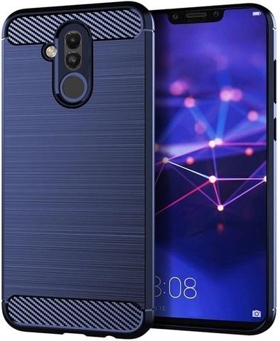 Чехол Carbon для Huawei Mate 20 Lite серия Карбон | синий