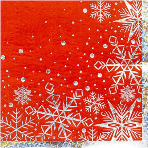 Салфетки Снежные Искры, 25см