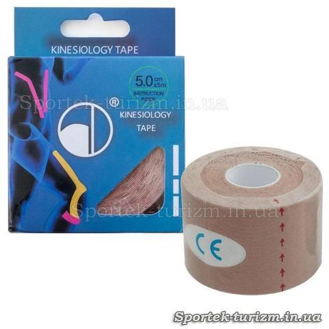 Спортивный пластырь Кинеcиотейп (Kinesiology tape) BC-4863-5 (5см х 5м)