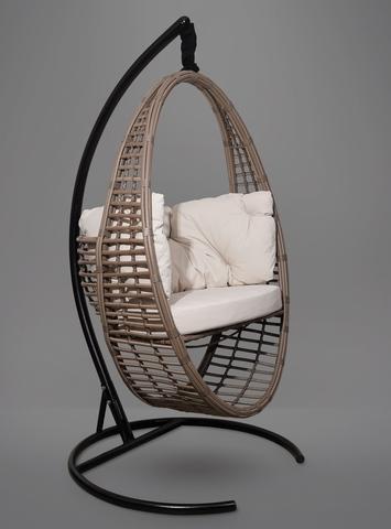 Подвесное кресло-кокон Derbent коричневое + каркас