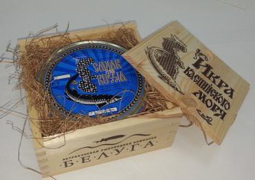Икра зернистая  стерляди  в подарочной упаковке 500 гр ж/б
