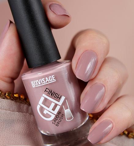 LuxVisage Лак для ногтей GEL finish тон 16(темно-бежевый) 9г