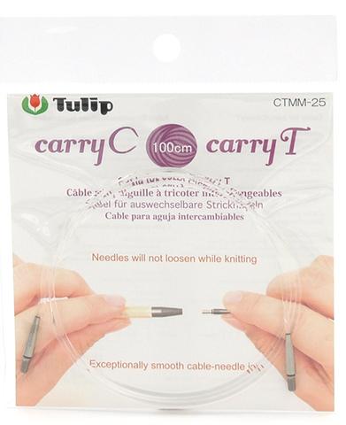 """Тросик для съемных спиц """"carryC"""" и тунисских крючков """"carryT"""", длина 100см, Tulip, CTMM-25"""