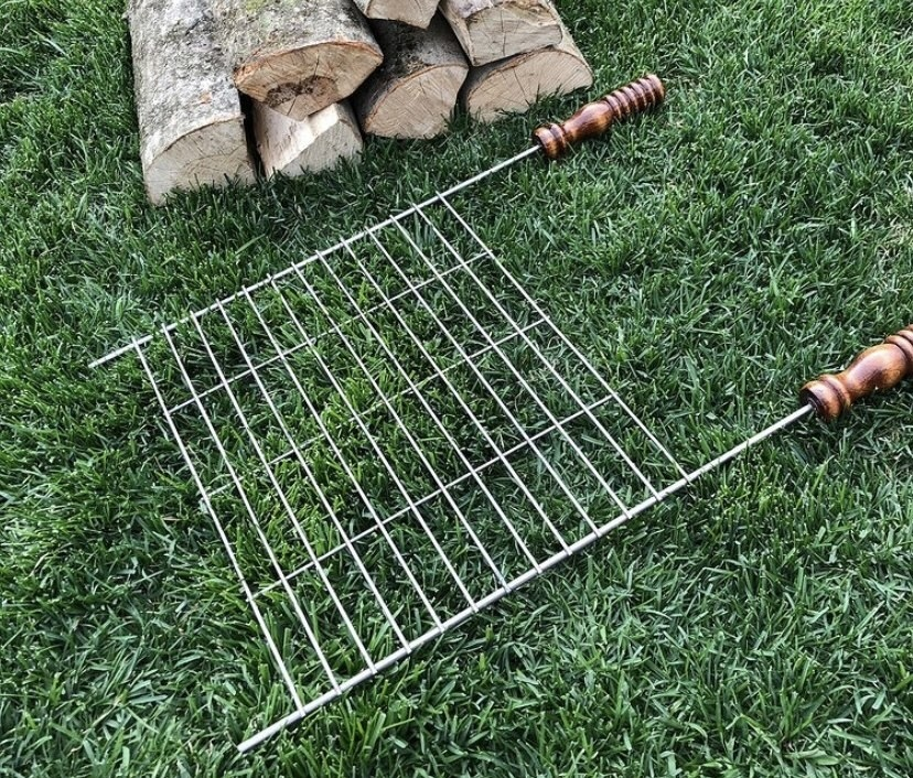 Решетка гриль Плоская сетка на мангал с деревянными ручками 40х30 см OxDCnXojRqk.jpg