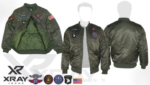 Куртка утеплённая 'MA-1 With Patches' Olive