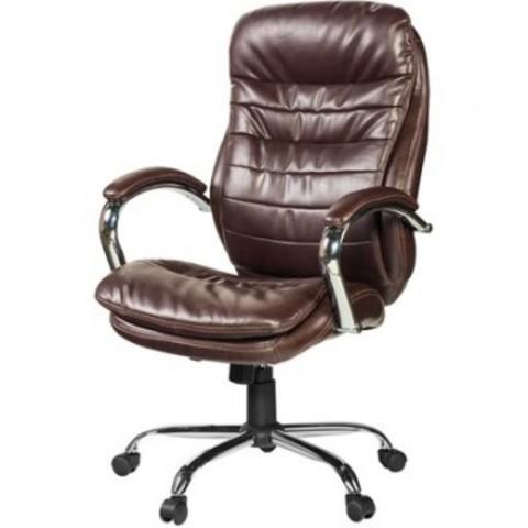 Кресло для руководителя Easy Chair 515 RT коричневое (рециклированная кожа/металл)