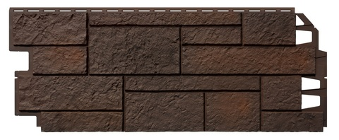 Фасадные панели Vox Solid Sand Stone Dark Brown 1000х420 мм