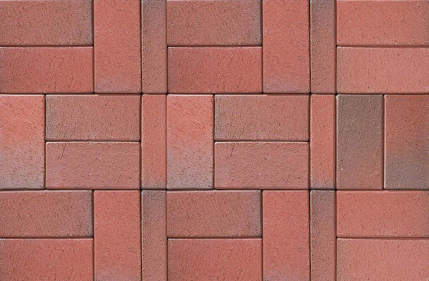 ABC Recker-bunt, 200x100x40 - Тротуарная клинкерная брусчатка