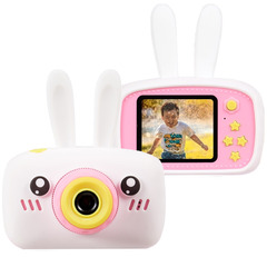 Детский фотоаппарат зайка белый