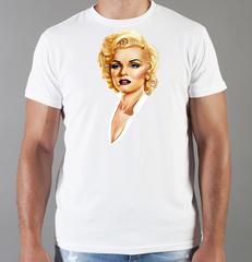 Футболка с принтом Мэрилин Монро  (Marilyn Monroe) белая 002