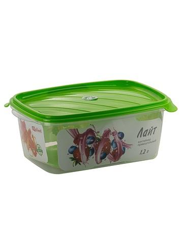 Контейнер пищевой Лайт 1.2 литра прямоугольный Эльфпласт контейнер для хранения еды с крышкой 14*20*8 см