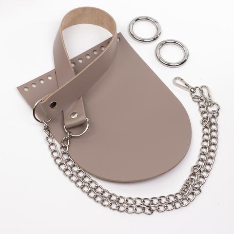 """Комплект для сумочки Орео """"Мускат"""". Ручка с цепочкой"""