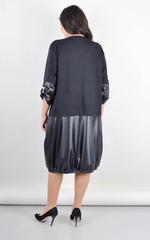 Фаїна. Плаття об'ємного крою великого розміру.  Чорний.