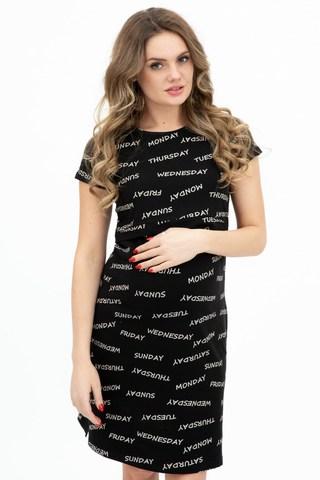 Сорочка для беременных и кормящих 12223 черный
