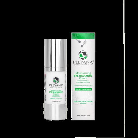 PLEYANA | Увлажняющий крем-сияние для контура глаз с лимфодренажным комплексом / Moisturizing eye radiance cream, (30 мл)