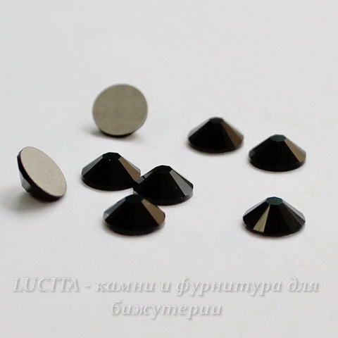 2058 Стразы Сваровски холодной фиксации Jet ss12 (3,0-3,2 мм), 10 штук