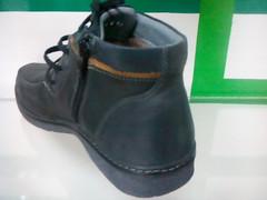 Серые ботинки мужские зимние кожаные. Теплые ботинки с мехом Kadar BG