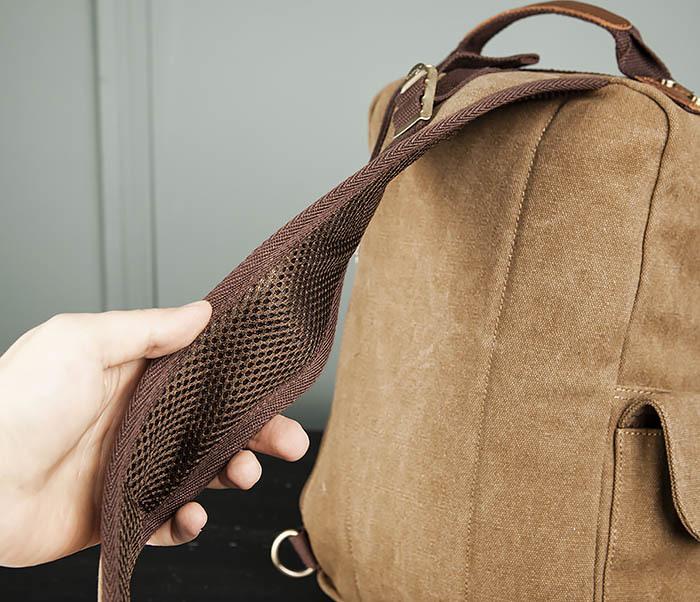BAG394-2 Коричневый городской рюкзак с одной лямкой через плечо фото 07