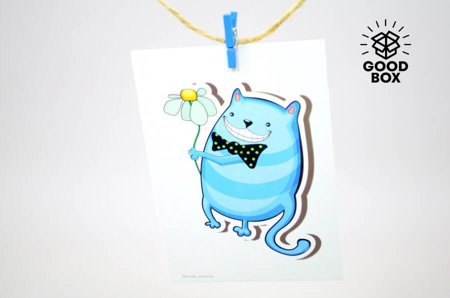 Открытка котик купить в Алматы