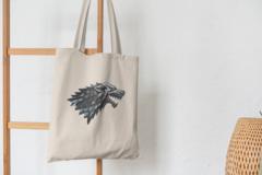 Сумка-шоппер с принтом Игра престолов (Game of Thrones) бежевая 002