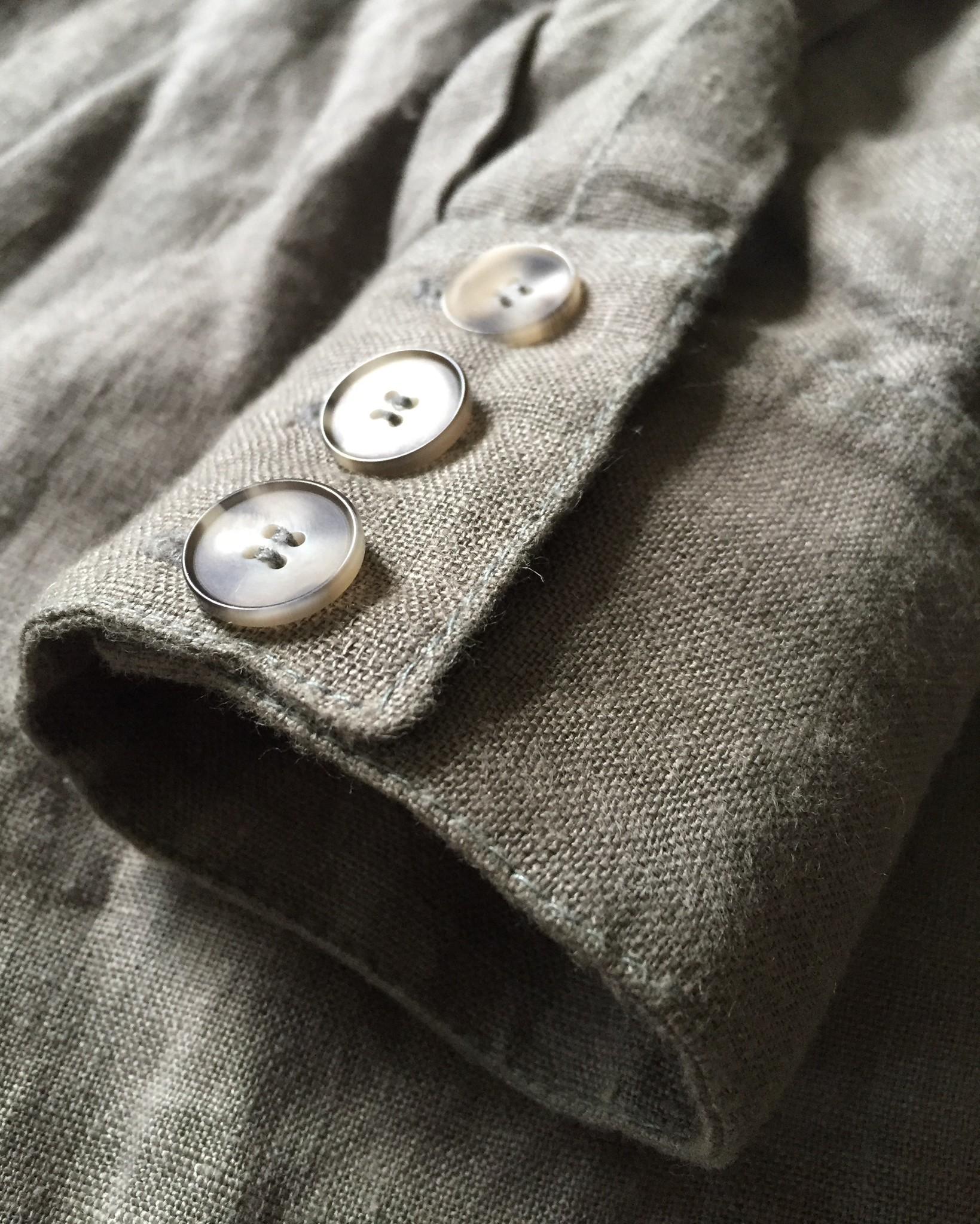 Льняная рубашка оверсайз