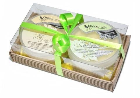 Набор подарочный №12 для тела Зеленый Чай (крем-скраб Конфитюр Зел.чай, Суфле Розмари)/ТМChocolatte