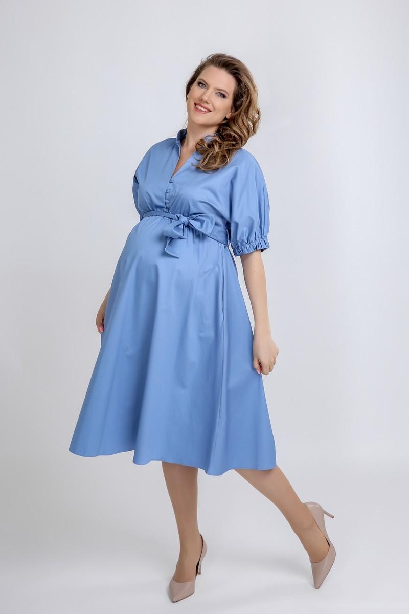 Фото платье для беременных GEMKO от магазина СкороМама, светло-голубой, размеры.