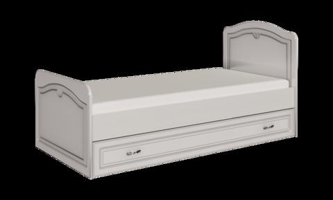 Кровать одинарная Melania 05 80х190 без ящика Арника рамух белый