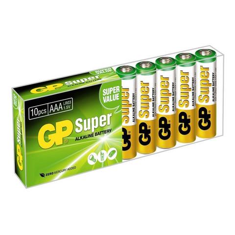 Батарейки GP Super мизинчиковые ААA LR03 (10 штук в упаковке)
