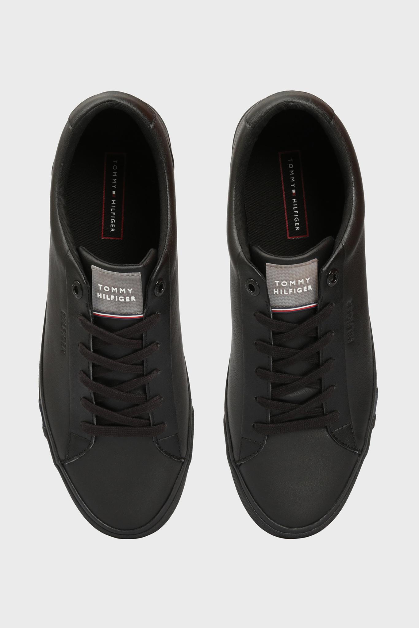 Мужские черные кожаные сникеры CORPORATE LEATHER Tommy Hilfiger