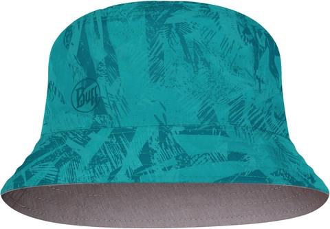 Панама двухсторонняя Buff Travel Bucket Hat Acai Grey/Turquoise фото 1