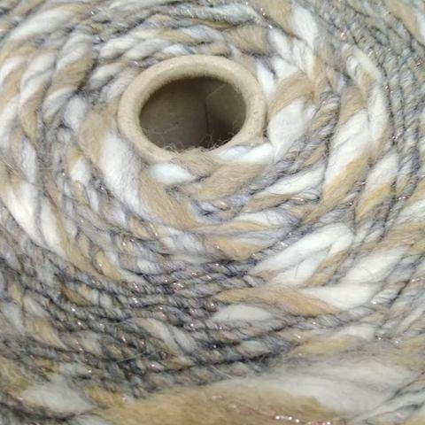Смесовка фасонная с альпакой PINORI FILATI MORELLINO 120 серо-бежевый