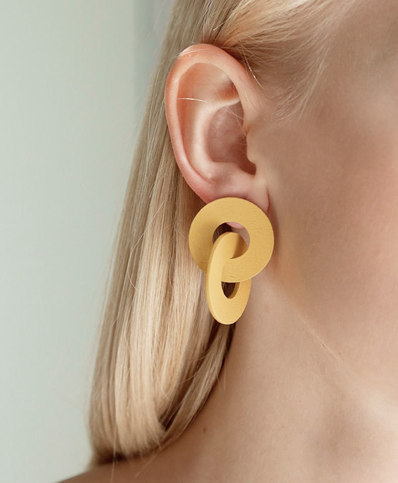 Серьги Cleo Earrings in Straw