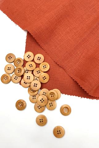 Пуговица деревянная,19 мм
