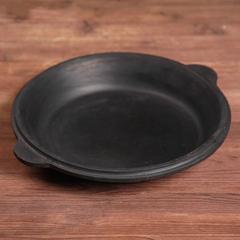 Узбекский чугунный казан 8л круглое дно с чугунной крышкой сковородой