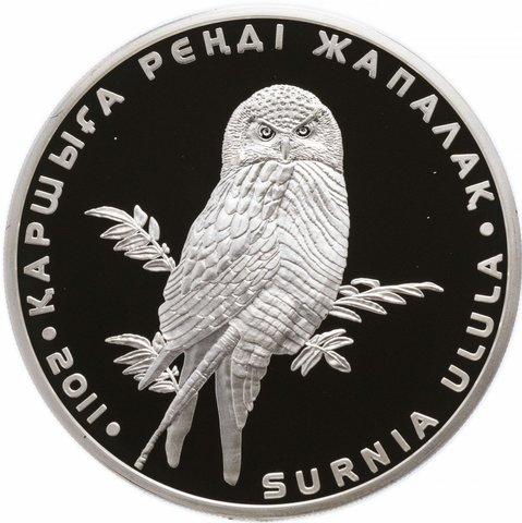 500 тенге. Ястребиная сова. Казахстан. 2011 г. PROOF