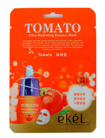 ТКАНЕВАЯ МАСКА ДЛЯ ЛИЦА С ЭКСТРАКТОМ ТОМАТА TOMATO ULTRA HYDRATING ESSENCE MASK 25Г