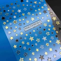 Наклейки звезды  Combi Metallic NogteModa №002 ...