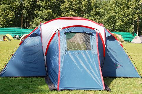 Палатка Canadian Camper SANA 4 PLUS, цвет royal, веранда.