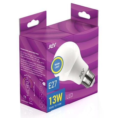 Лампа сд A60 Е27 13W,2700K,теплый свет
