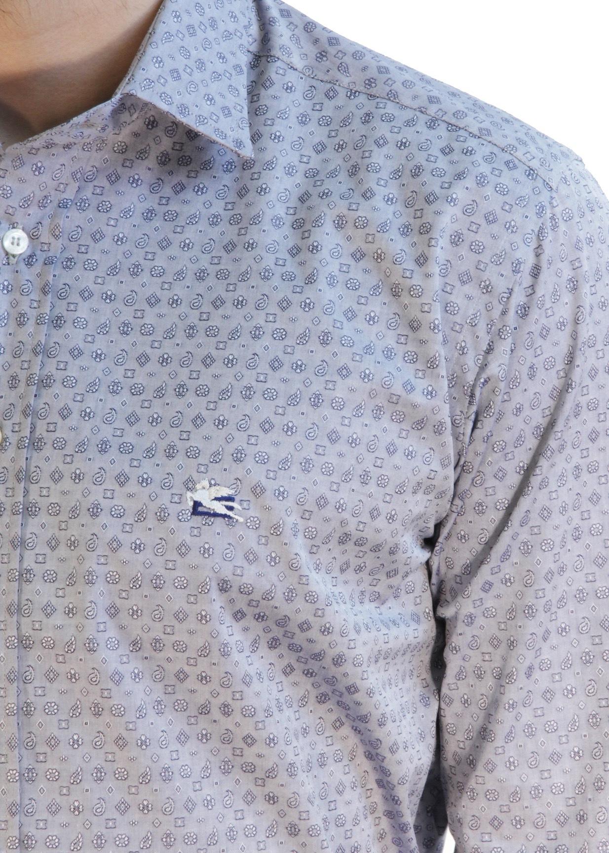 <p>Рубашка из хлопка. Цвет серый</p> ETRO