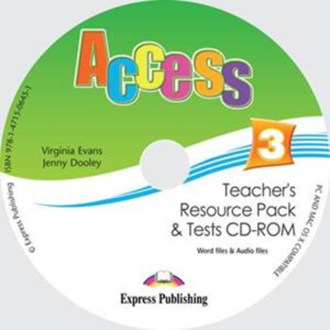 Access 3. Teacher's resource pack & tests CD-ROM. CD-ROM для учителя к тестовым заданиям с дополнительными материалами