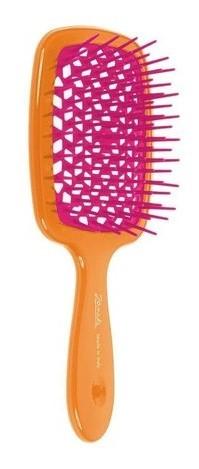 Расческа маленькая Janeke Superbrush Small двухцветная 86SP234 (ARA - оранжевый/фиолетовый )