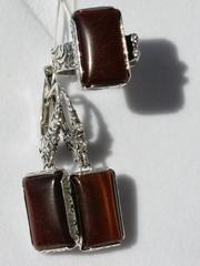 Натэлла (кольцо + серьги из серебра)