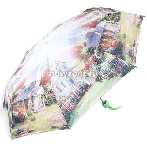 Женский зонт 3 сложения механика Мэджик Рейн летняя вилла