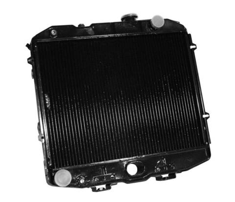 Радиатор охлаждения Уаз 3163, Патриот (ЗМЗ 409)  с кондиционером (2-х рядный) медный ОРЕНБУРГ