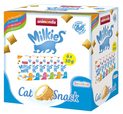 Animonda Milkies Crunchy Pillows Cat - Selcetion Multipack